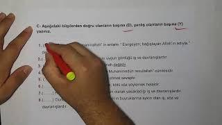 4.Sınıf Din Kültürü ve Ahlak Bilgisi 1 Ünite Tekrar-Yardımcı Öğretmen Video