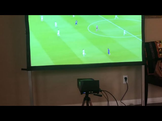 MosicGO® Projector  Customer Video - Soccer game