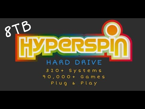8TB Hyperspin Hard Drive - 350+ Systems & 90,000+ Games