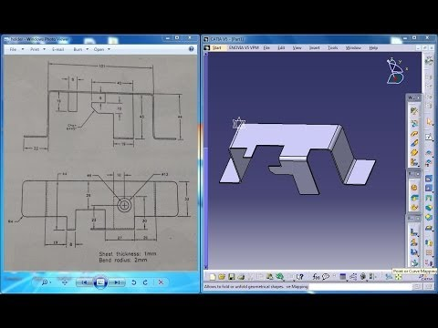 catia-v5-tutorial  holder-clip-design-p5-in-generative-sheetmetal