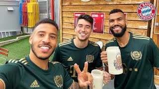 New beer stein lifting record | The Bayern Challenge with Tolisso, Roca \u0026 Choupo-Moting