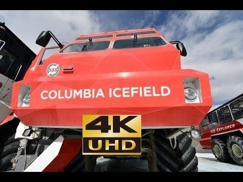 Columbia Icefield Glacier  Adventure , Alberta, Canada, Jasper National Park,  4K