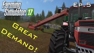 Great Demand For Wood Chips! - Farming Simulator 17 Ep.5
