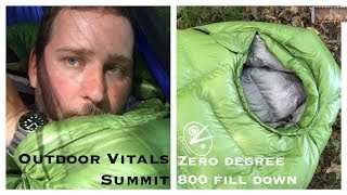 Outdoor Vitals Summit Zero 0 Degree Affordable Down Sleeping Bag - 555 Gear
