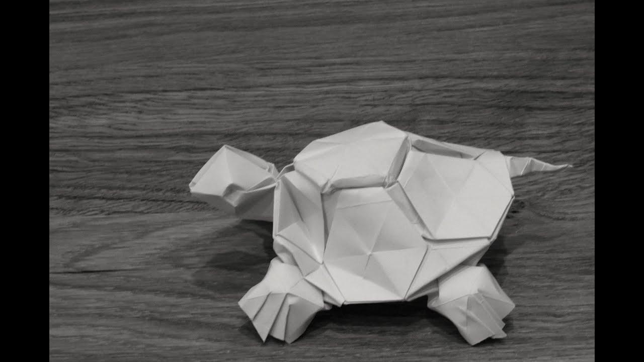 Simple Origami Turtle Tutorial (Hyo Ahn) - YouTube | 720x1280