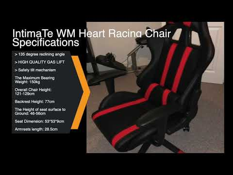 IntimaTe WM heart Racing Gaming chair review