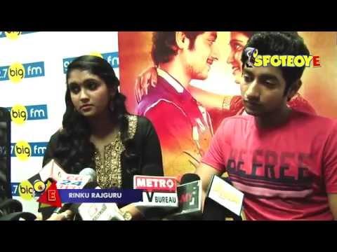 Sairat Star Cast Rinku Rajguru & Akash Thosar At A Radio Station   SpotboyE