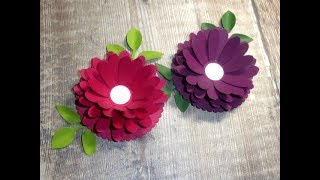Beautiful Flower Toppers Using the Daisy Punch from Stampin' Up!