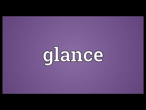 Glance Meaning