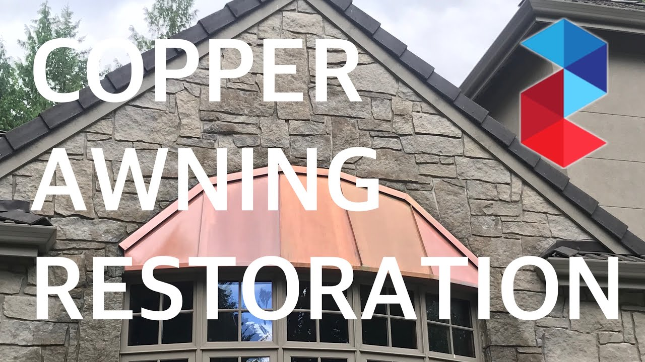 Copper Awning Restoration And Seal