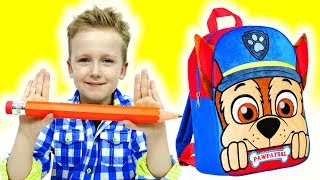 Eli getting ready for School and buying School Supplies