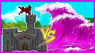 Minecraft - GIRLY TSUNAMI VS BOY BASE CHALLENGE! w/ Little Lizard