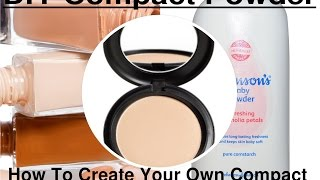DIY Pressed Powder | Home Made Compact With Two Ingredients