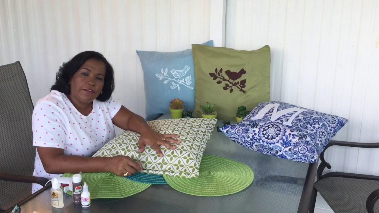 Como Hacer Fundas Para Cojines De Sofa.Como Hacer Fundas Para Cojines Facil Y Economica