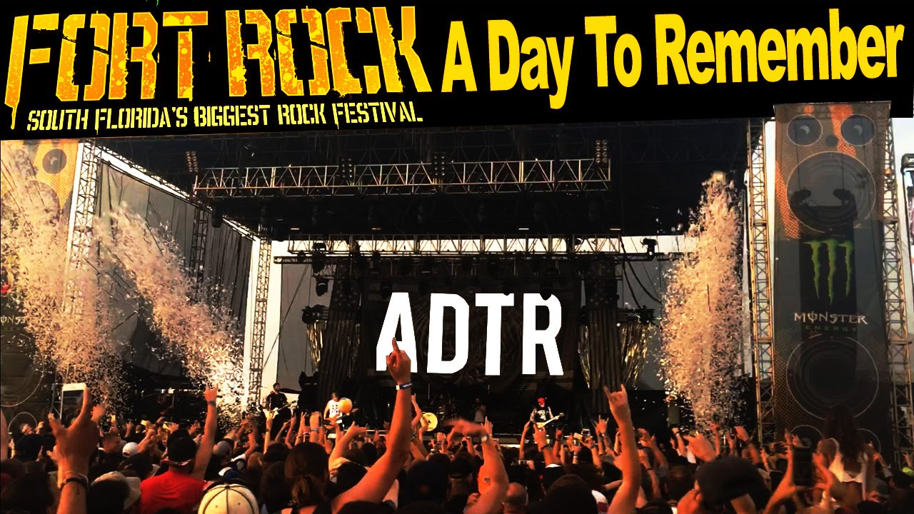 A Day to Remember - Right Back At It Again - Fort Rock ... A Day To Remember Right Back At It Again