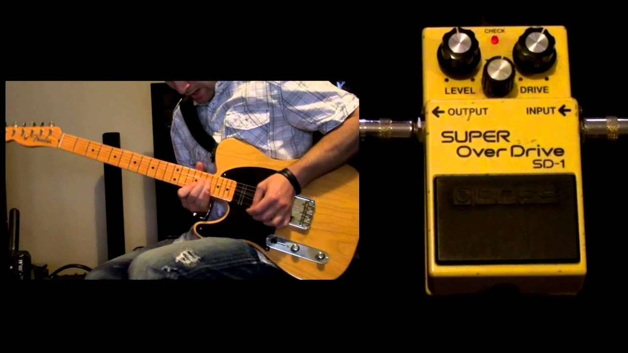 boss super overdrive sd 1 pedal youtube