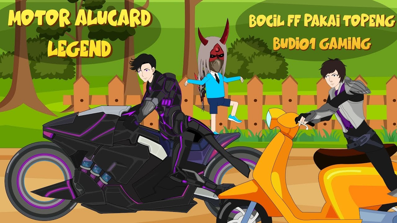 MOBILE LEGENDS ANIMATION   MOTOR ALUCARD LEGEND DAN BOCIL FF PAKAI TOPENG BUDI01 GAMING