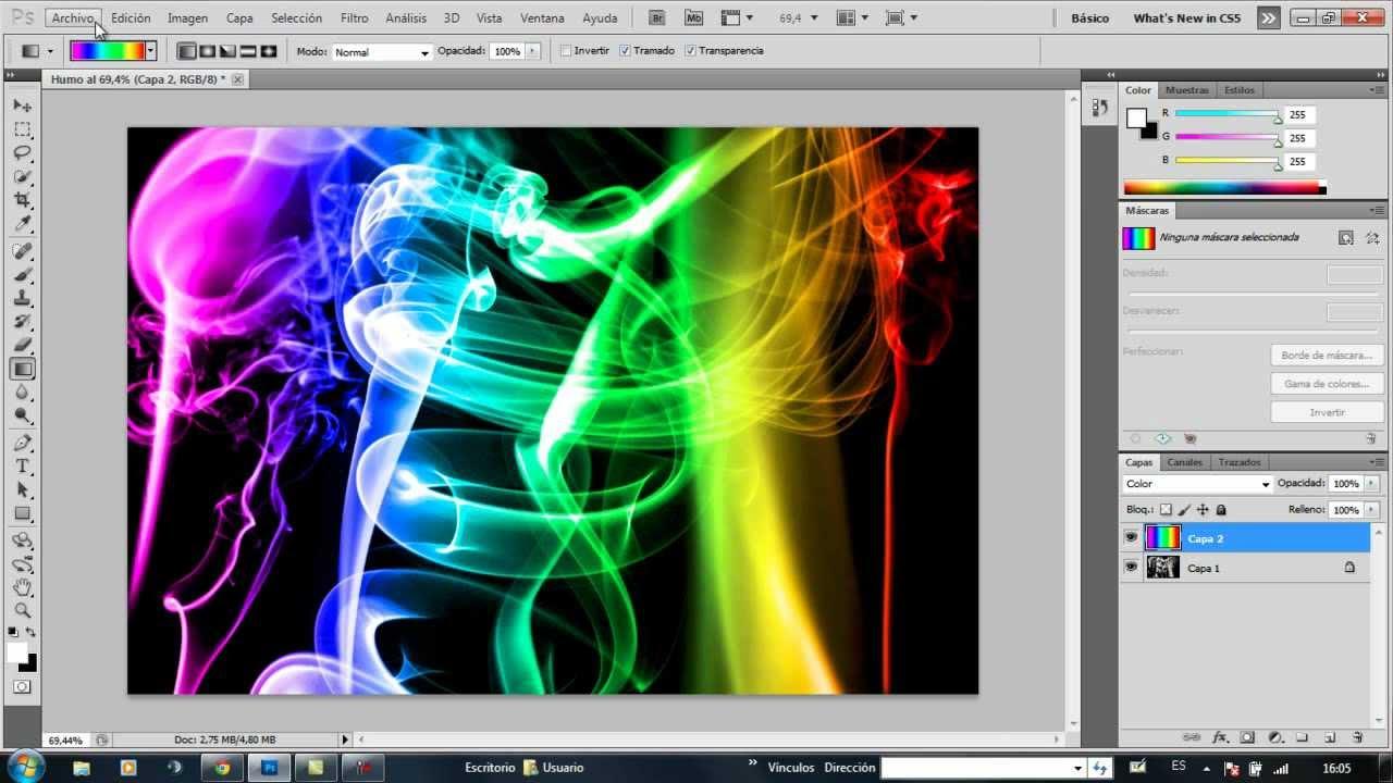 Tutorial humo de colores - YouTube