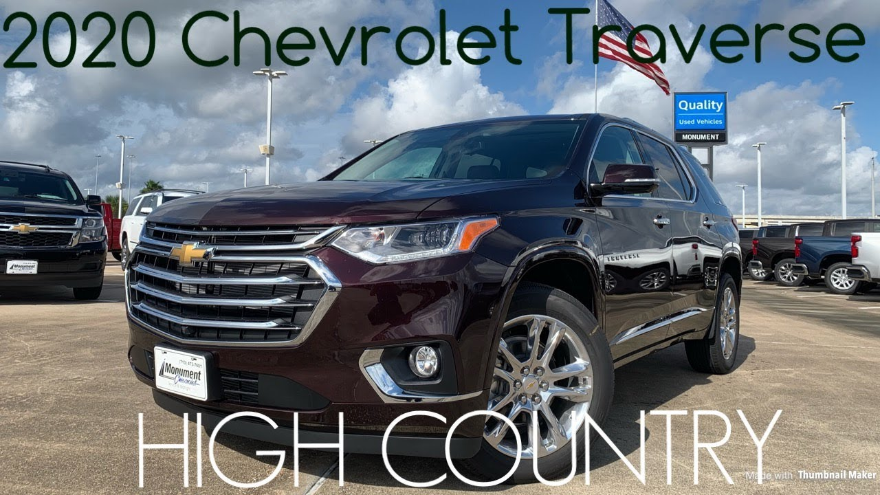 2020 Chevrolet Traverse High Country Start Up Review Youtube