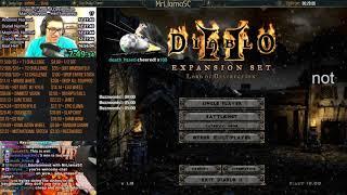 Diablo 2 - Man Vs Stream Season 4 - Hell Sorceress Edition PART 1