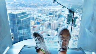 Riding LA's 1,000 ft GLASS SLIDE