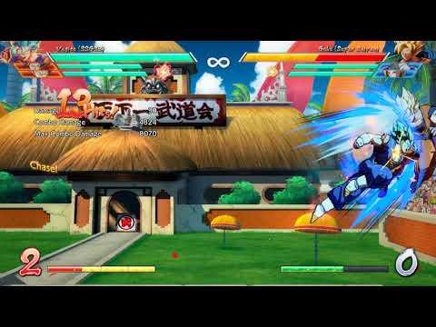 Dragon Ball Fighterz Vegito Blue solo sparking combo 8K