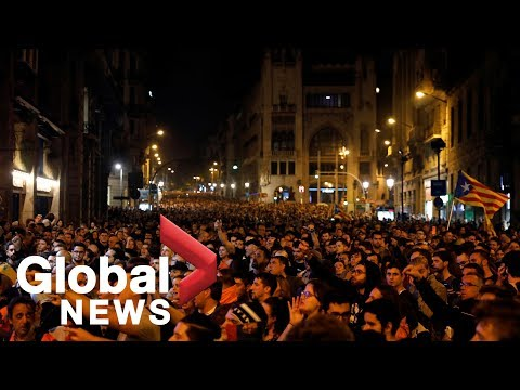 Catalonia separatists protest in Spain