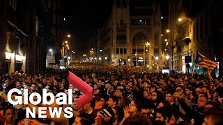Catalonia separatists protest in Spain | LIVE