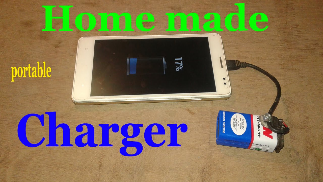 Portable Mobile Charger Easy Home Made Using 9v Battery