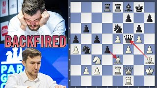 EXPLODED in his face | Karjakin vs Carlsen | Skilling Open 2020