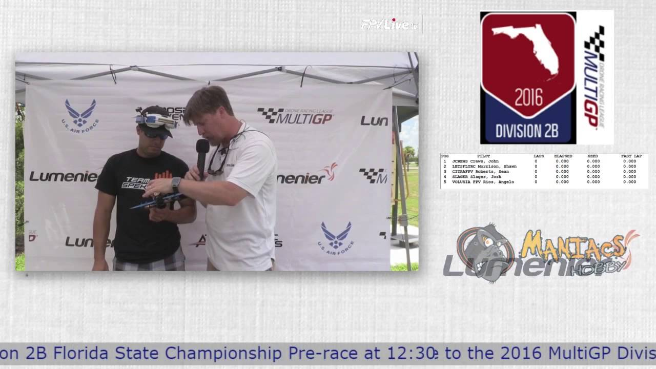 Drone Racing at The 2016 MultiGP 2B Florida Finals Pre-Race Interview with NaviHawk