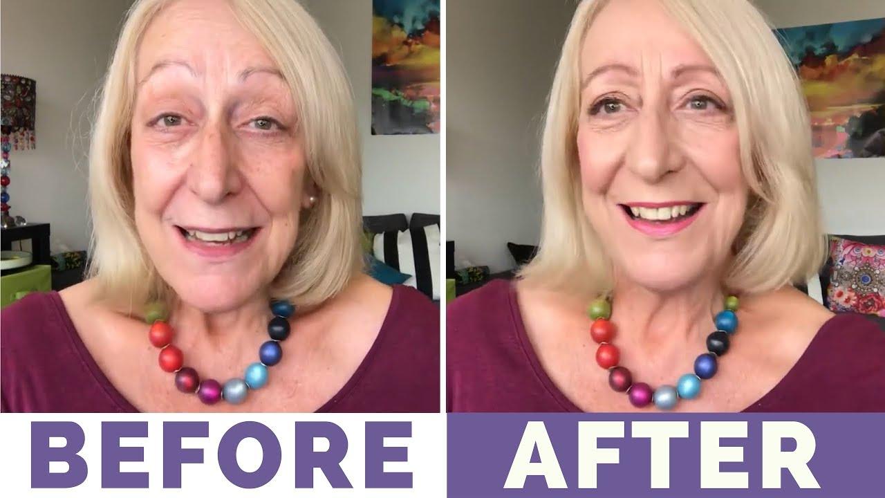 Mineral makeup for mature women