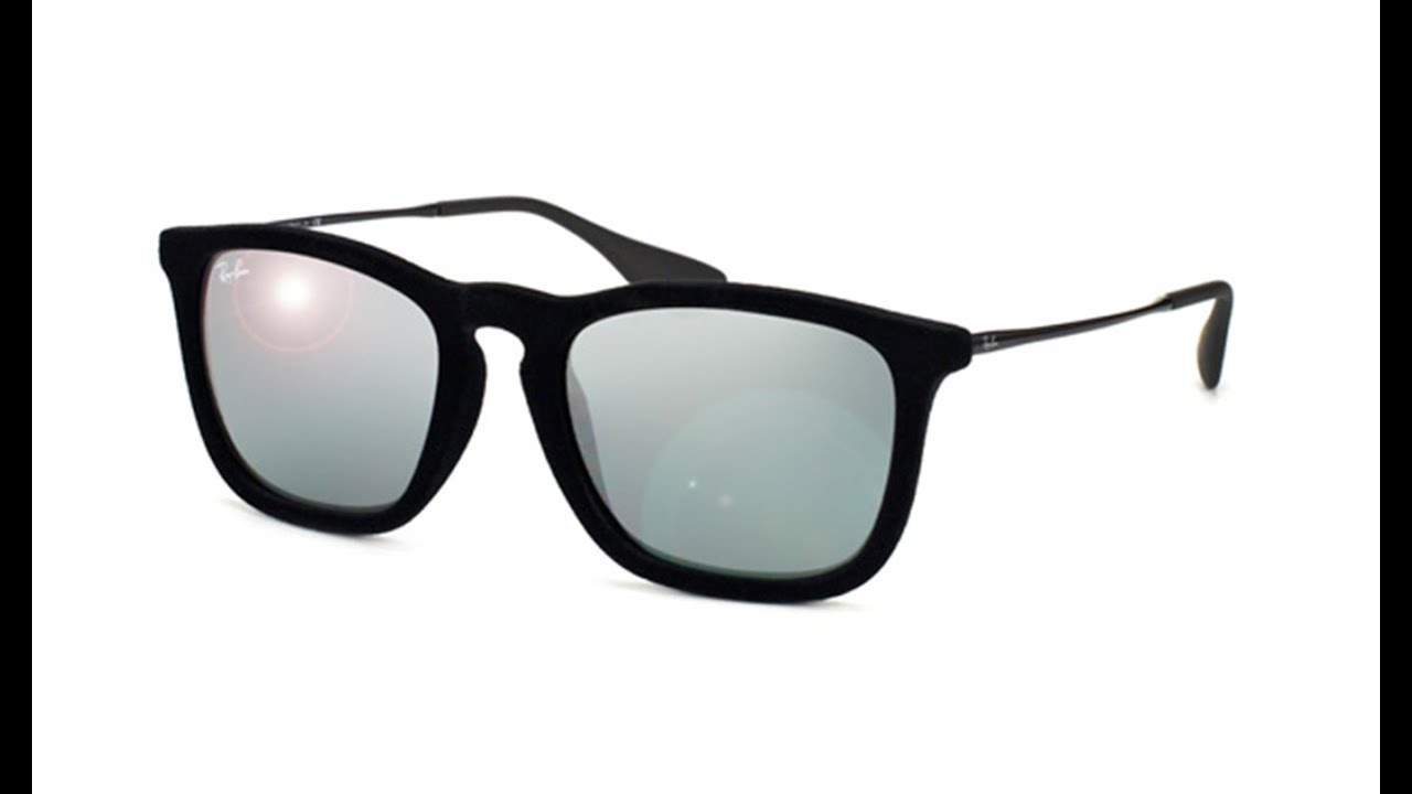 0d96c7bbe2d0c1 Ray Ban Chris Velvet RB4187 60756G - YouTube