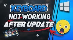 Fix Keyboard Not Working After Windows Update in Windows 10/8/7 [2020 Tutorial]