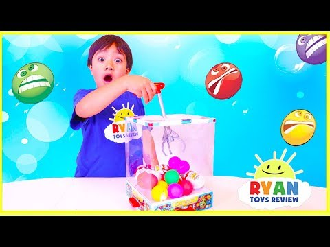 Ryan plays Crazy Craw Machine with Kinder Eggs Surprise Toys