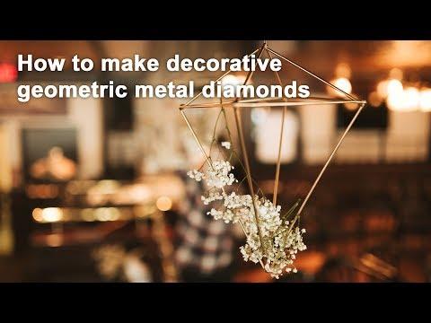 DIY Welded Wireframe Diamonds - Geometric Sculptures!