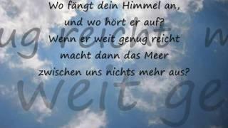 Philipp Poisel - Wo fängt dein Himmel an.  (Lyrik)