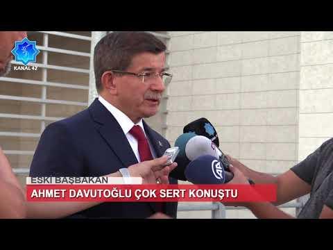 Eski Başbakan Ahmet Davutoğlu Çok Sert Konuştu || Kanal 42 Haber Merkezi