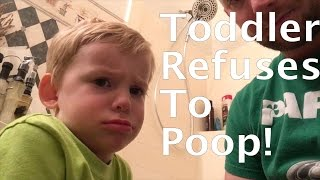 Toddler Refuses to Poop in the Toilet
