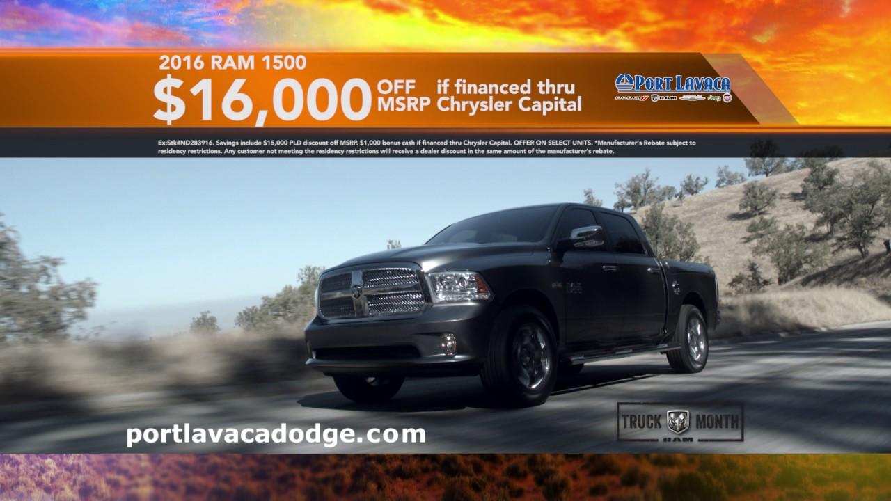 Port Lavaca Dodge >> Port Lavaca Dodge Truck Month February 2017 Youtube