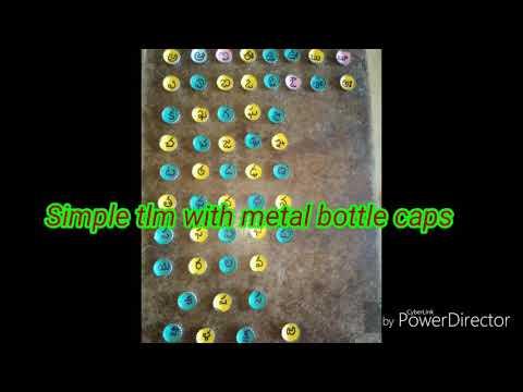 Simple tlm with metal bottle caps Prepared by TVAGayatri.