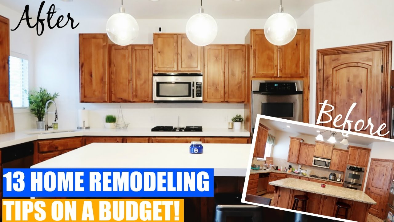 Home Remodeling Tips & Ideas On A Budget! (with Before