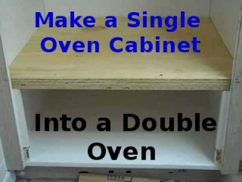 Making Existing Single Oven Cabinet into Double Oven YouTube