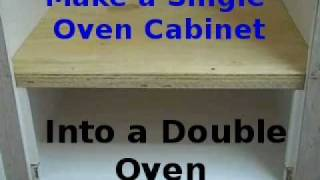 Making Existing Single Oven Cabinet Into Double Oven