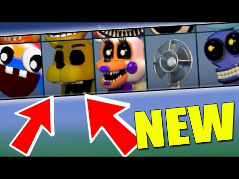 FNAF WORLD UPDATE 3 SECRET CHARACTERS? *New Characters* Gameplay #1 (Fanmade)