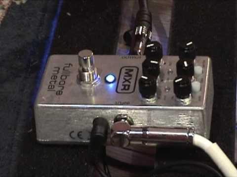 mxr fullbore metal guitar effects pedal demo with sg dr z amp youtube. Black Bedroom Furniture Sets. Home Design Ideas