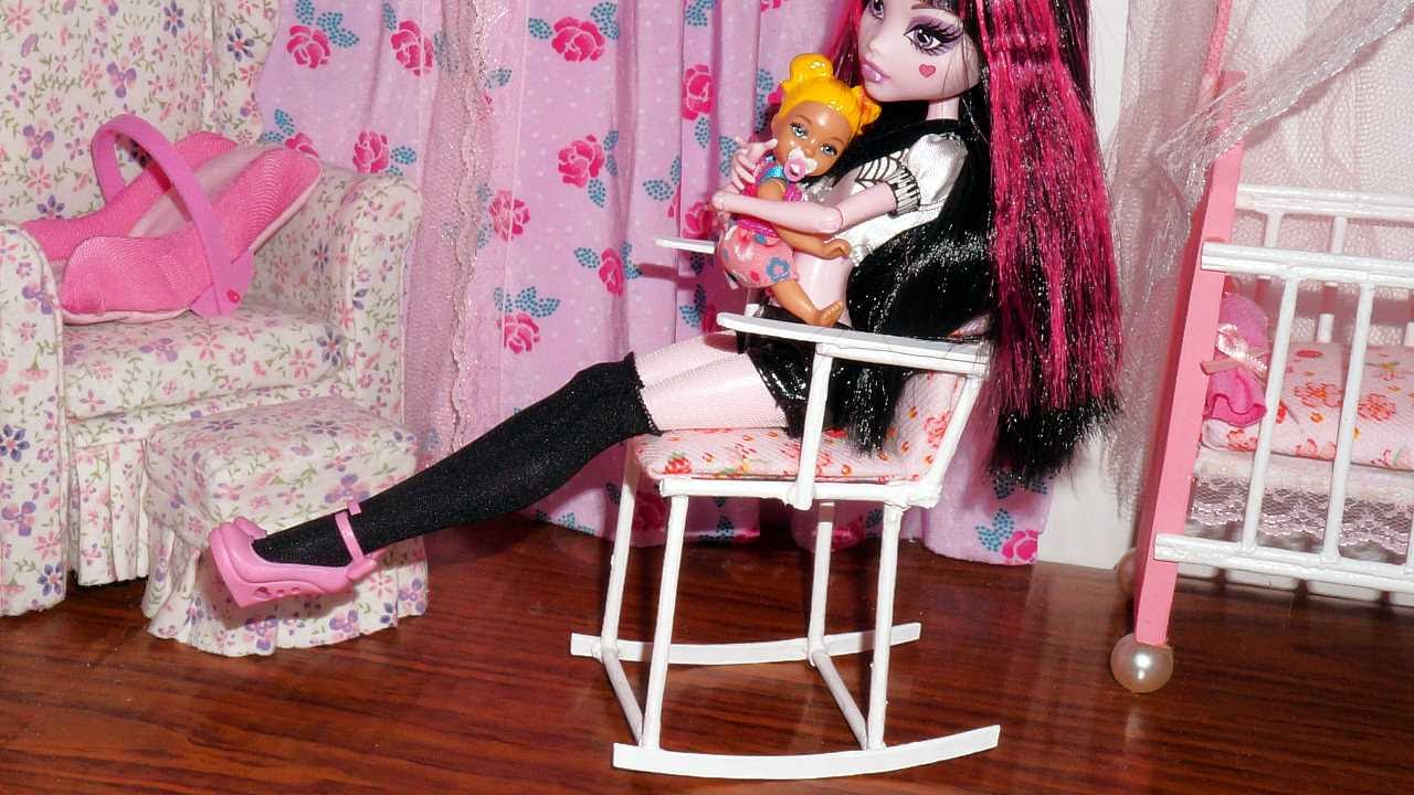 How to make a rocking chair for doll Monster High MLP