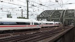 Züge ohne Ende am Kölner Hbf und auf der Hohenzollernbrücke am 12.07.2014