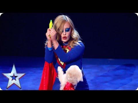 Super dog Trip Hazard comes to the rescue   Grand Final   Britain's Got Talent 2016