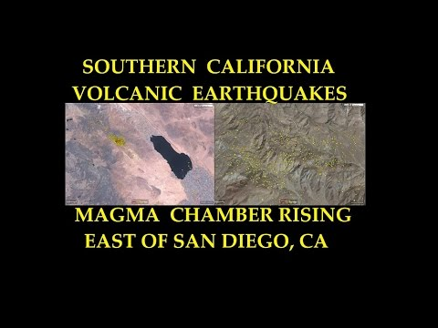 Southern California / West coast Volcano Risk - Rising Magma causes swarm of 1,000+ earthquakes